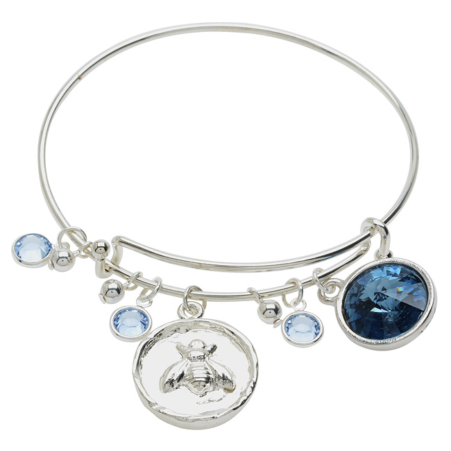 Silver Bee Deluxe Charm Bangle Bracelet - Exclusive Beadaholique Jewelry Kit