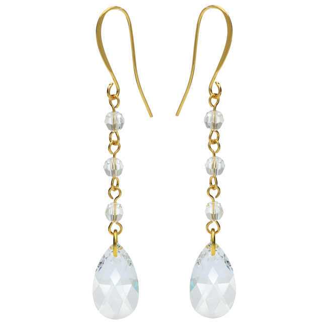Drop Earrings featuring Swarovski Crystals - Crystal - Exclusive Beadaholique Jewelry Kit