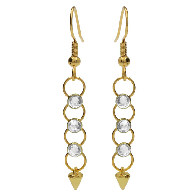 Crystaletts Spike Earrings - Crystal/Gold - Exclusive Beadaholique Jewelry Kit