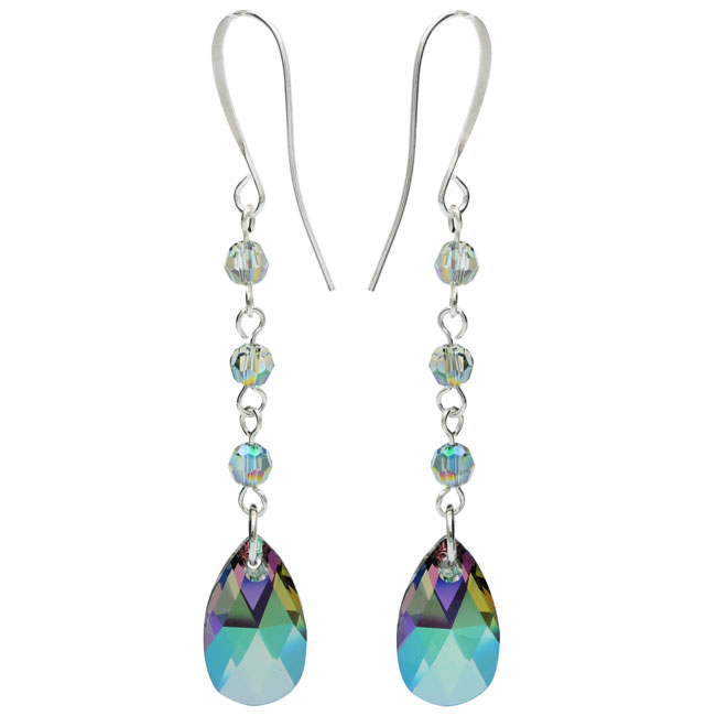 Drop Earrings featuring Swarovski Crystals - Crystal Paradise  - Exclusive Beadaholique Jewelry Kit
