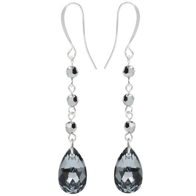 Drop Earrings featuring Swarovski Crystals - Crystal Lt Chrome - Exclusive Beadaholique Jewelry Kit