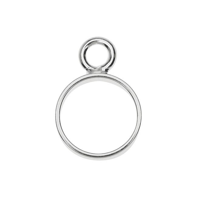 Open Back Bezel Pendant, Circle 12.5x18mm, 1 Piece, Silver, by Nunn Design