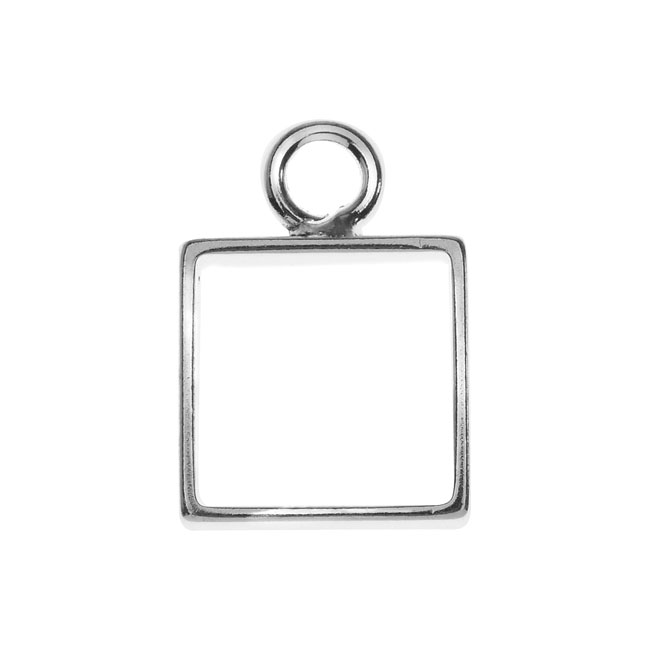Nunn Design Open Frame Pendant, Square 12.5x18mm, 1 Piece, Silver