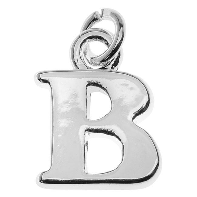 Final Sale - Silver Plated Initial Charm, Alphabet Letter