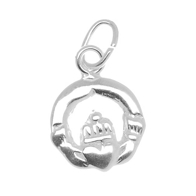 Sterling Silver Charm Irish Claddagh Love & Friendship