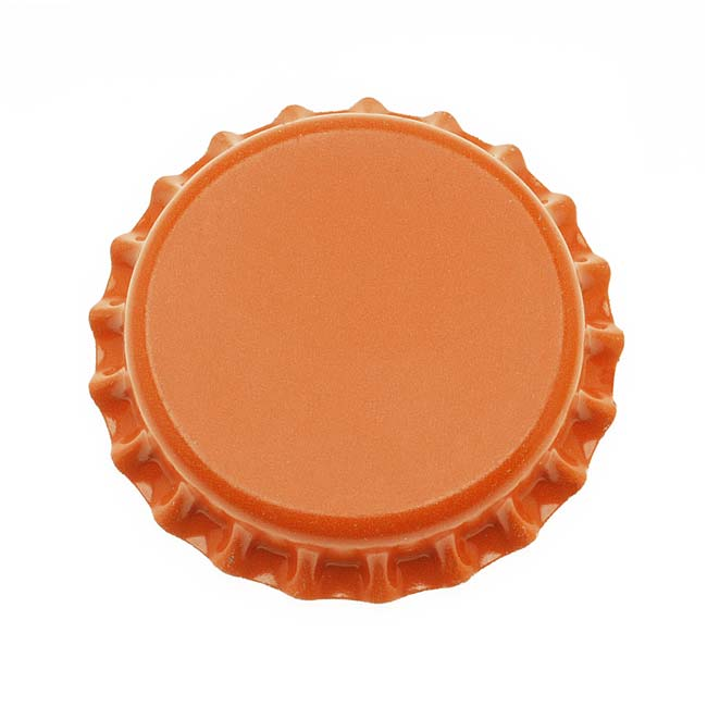 Final Sale - New Orange Crown Bottle Caps Craft Scrapbook Jewelry (50)