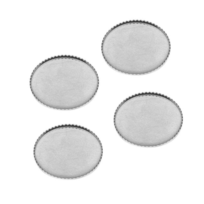 Bright Silver Tone Flat Round Bezel Cup Cabochon Setting 19mm (4)
