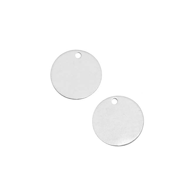Final Sale - Silver Filled Blank Stamping 'Round Tag' Pendants 11mm (2)