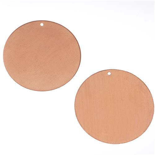 Solid Copper Round Stamping Blanks Pendants 25mm / 1 Inch (2)
