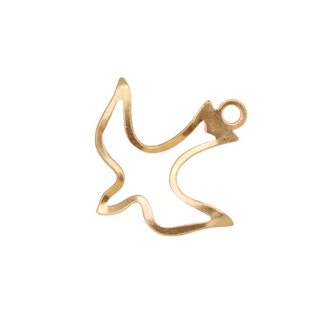14K Gold Filled Bird Outline Charm 20x19.5mm (1)