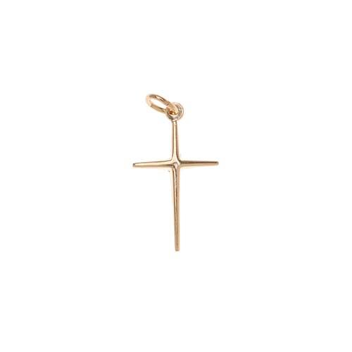 14K Gold Filled Sleek Cross Charm Pendant 19mm (1)