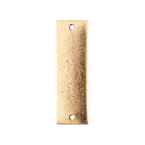 Nunn Design Antiqued Gold Plated Rectangle Flat Tag Pendant Link 9x31.5mm (1)