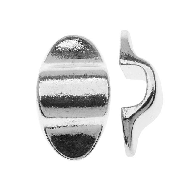 Nunn Design Silver Plated Ponytail Holder Finding - Create Custom Ponytail Holders 10x19mm (1)