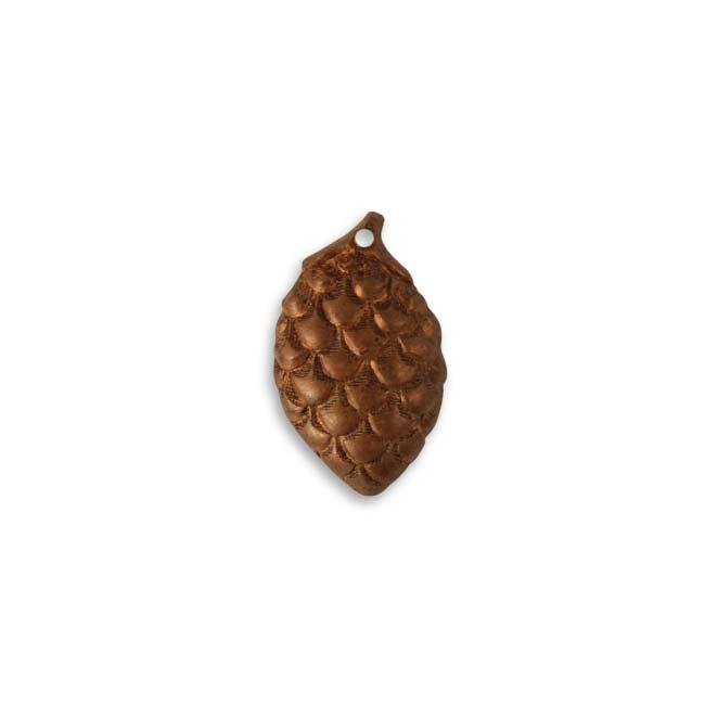 Vintaj Artisan Copper Pine Cone Pendant 21.5mm (1)