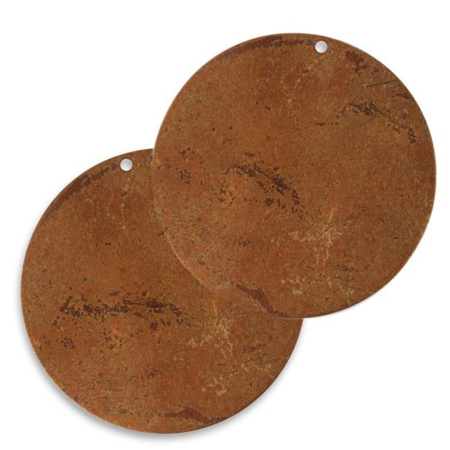 Vintaj Artisan Copper Blank Circle Blank Pendant 35mm (2)