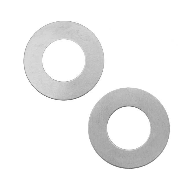 Final Sale - Silver Color Nickel Alloy Open Circle Blanks - 25.5mm Diameter 24 Gauge (2)