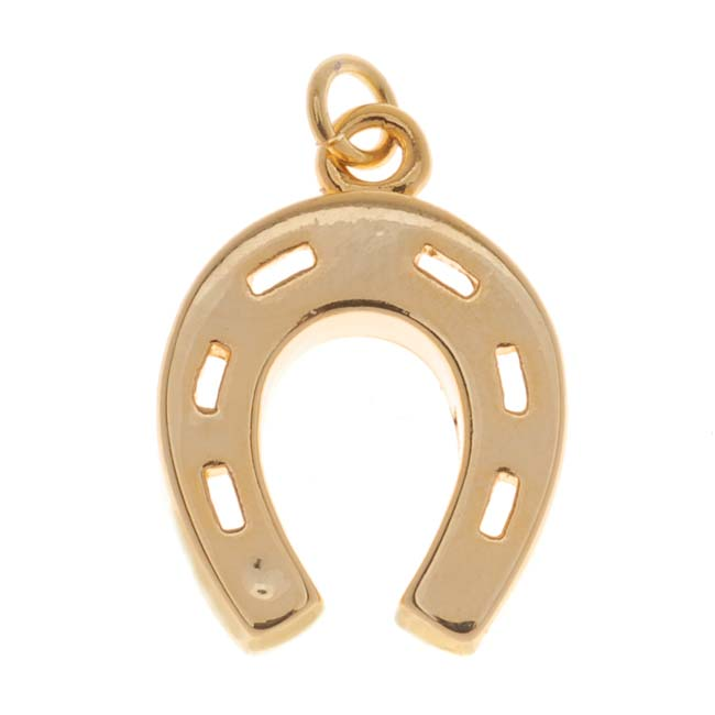 22K Gold Plated Lucky Horseshoe Charm 19mm (1)