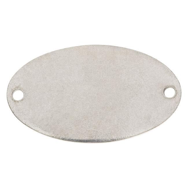 ImpressArt Soft Strike Blanks, Oval Connector 38 x 22mm, 1 Piece, Pewter