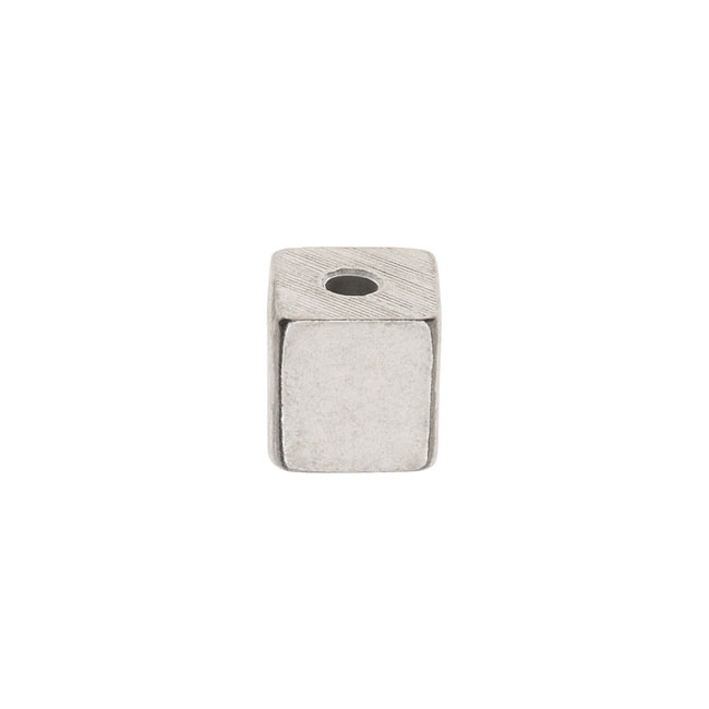 ImpressArt Soft Strike Blanks, Small Cube Bead 9.5mm, 1 Piece, Pewter