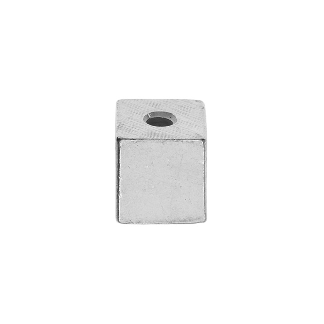 Final Sale - ImpressArt Soft Strike Blanks, Large Cube Bead 12.5mm, 1 Piece, Pewter