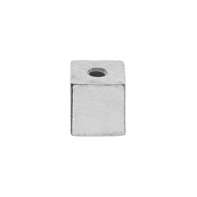 ImpressArt Soft Strike Blanks, Large Cube Bead 12.5mm, 1 Piece, Pewter