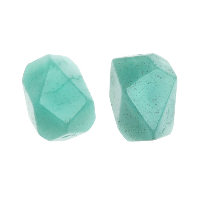 Final Sale - Amazonite Grade A Gemstone Beads, Smooth Nuggets 10-17mm, 6 Pieces, Aqua