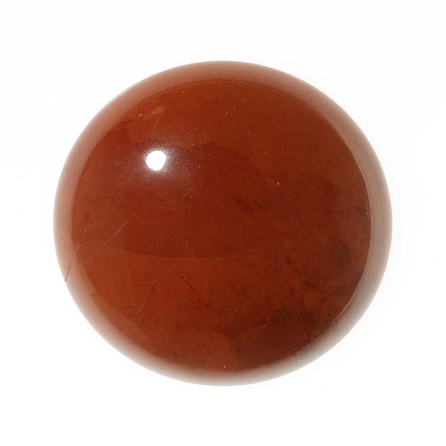 Red Jasper Gemstone Round Flat-Back Cabochon 25mm (1 Piece)