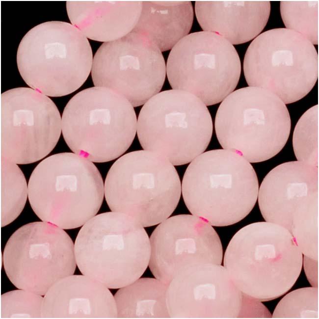 Gemstone Beads, Rose Quartz, Round 6mm, 15.5 Inch Strand, Pink