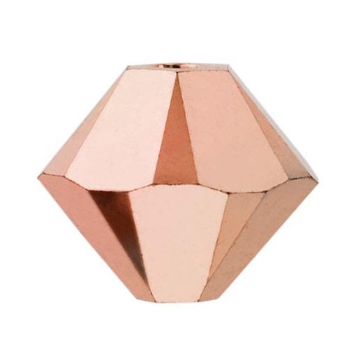 Swarovski Crystal, #5328 Bicone Beads 3mm, 25 Pieces, Crystal Rose Gold 2X