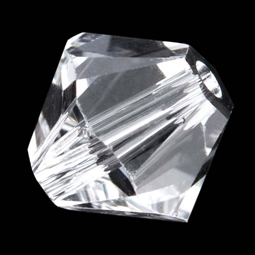 Swarovski Crystal, #5328 Bicone Beads 4mm, 24 Pieces, Crystal