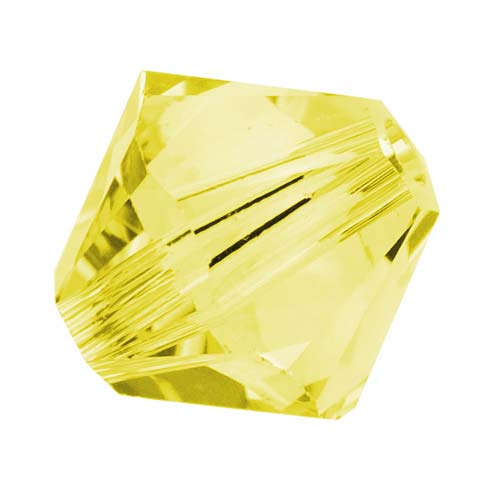Swarovski Crystal, #5328 Bicone Beads 4mm, 24 Pieces, Citrine