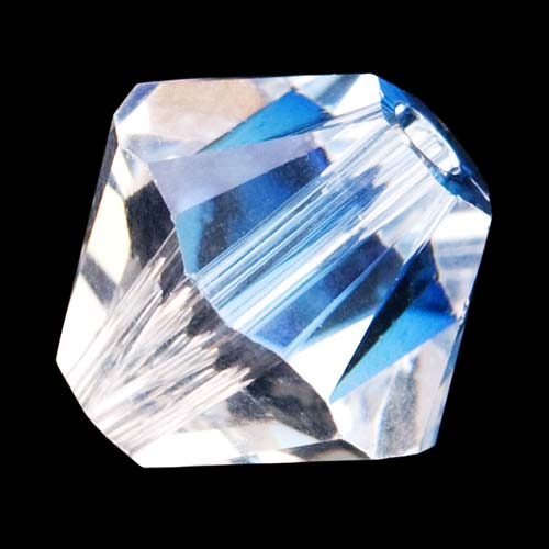 Swarovski Crystal, #5328 Bicone Beads 4mm, 24 Pieces, Crystal Moonlight