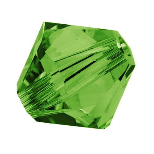Swarovski Crystal, #5328 Bicone Beads 4mm, 24 Pieces, Fern Green