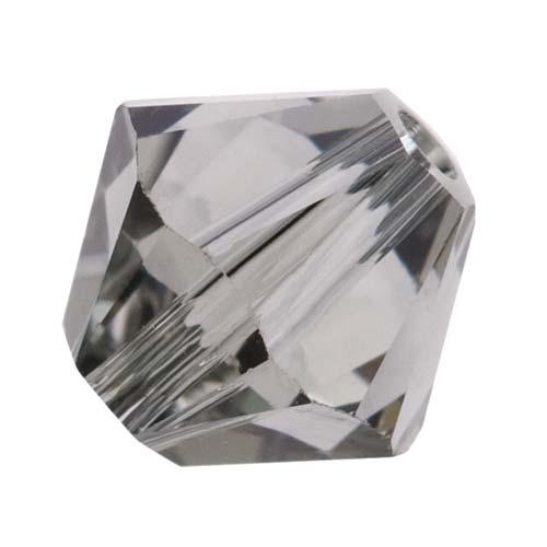 Swarovski Crystal, #5328 Bicone Beads 4mm, 24 Pieces, Black Diamond