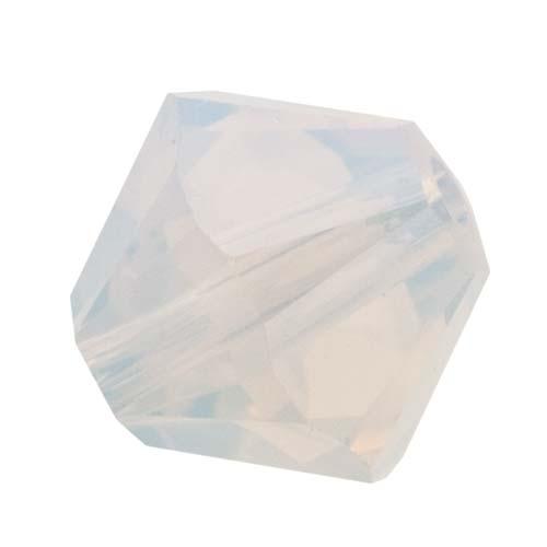 Swarovski Crystal, #5328 Bicone Beads 4mm, 24 Pieces, White Opal