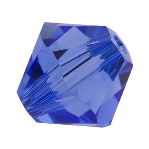 Swarovski Crystal, #5328 Bicone Beads 4mm, 24 Pieces, Sapphire Blue