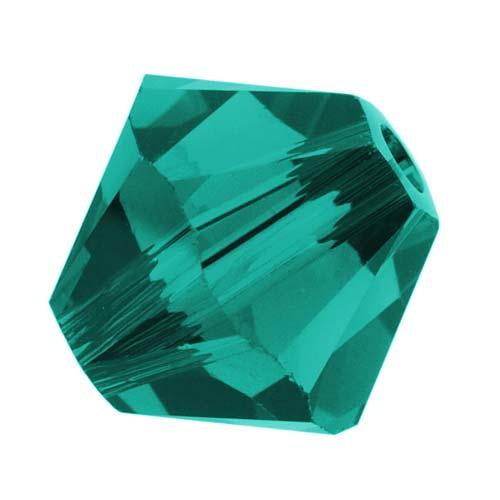 Swarovski Crystal, #5328 Bicone Beads 4mm, 24 Pieces, Blue Zircon