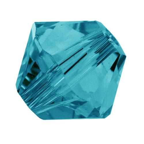 Swarovski Crystal, #5328 Bicone Beads 4mm, 24 Pieces, Indicolite