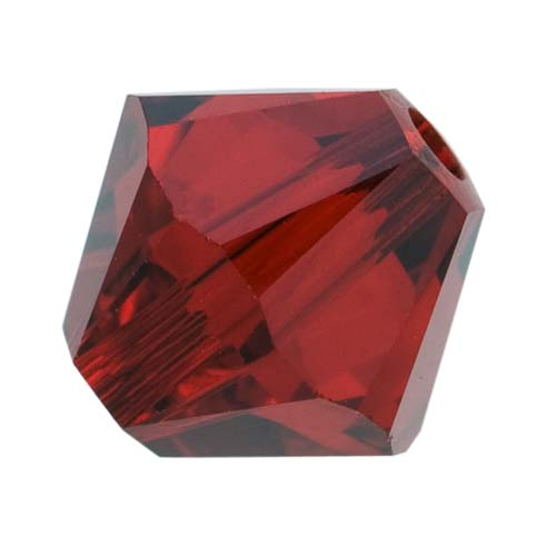 Swarovski Crystal, #5328 Bicone Beads 4mm, 24 Pieces, Siam