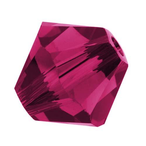 Swarovski Crystal, #5328 Bicone Beads 4mm, 24 Pieces, Ruby