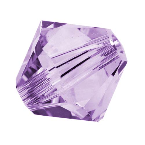 Swarovski Crystal, #5328 Bicone Beads 4mm, 24 Pieces, Violet