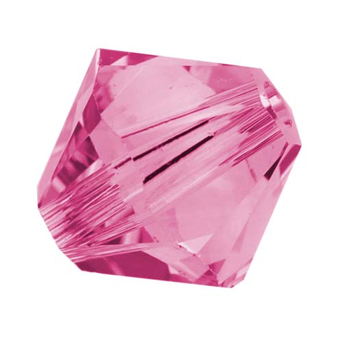 Swarovski Crystal, #5328 Bicone Beads 5mm, 20 Pieces, Rose