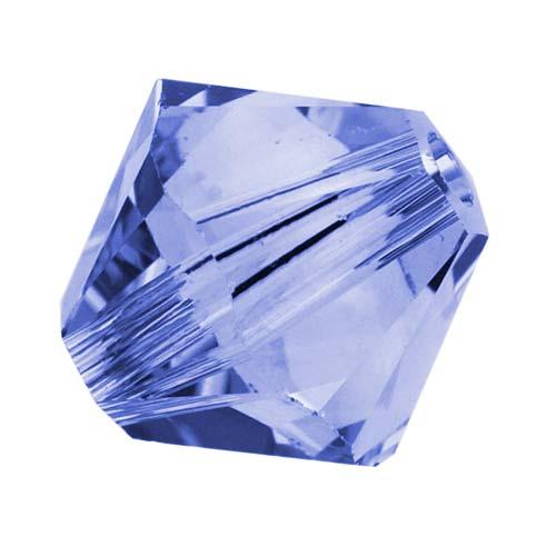 Swarovski Crystal, #5328 Bicone Beads 6mm, 20 Pieces, Light Sapphire
