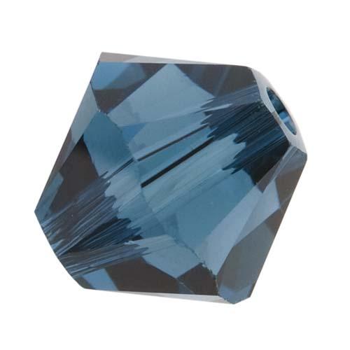 Swarovski Crystal, #5328 Bicone Beads 6mm, 20 Pieces, Montana