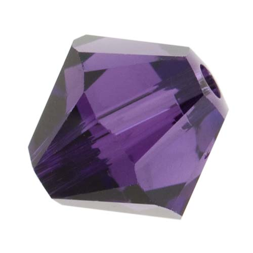 Swarovski Crystal, #5328 Bicone Beads 6mm, 20 Pieces, Purple Velvet