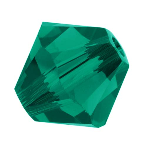 Swarovski Crystal, #5328 Bicone Beads 8mm, 8 Pieces, Emerald
