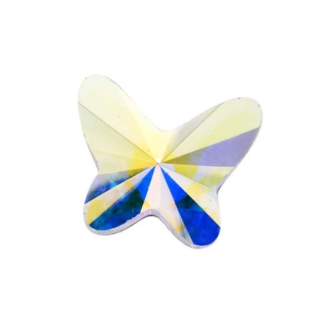 Swarovski Crystal, #2854 Butterfly Flatback Rhinestone 8mm, 4 Pieces, Crystal AB