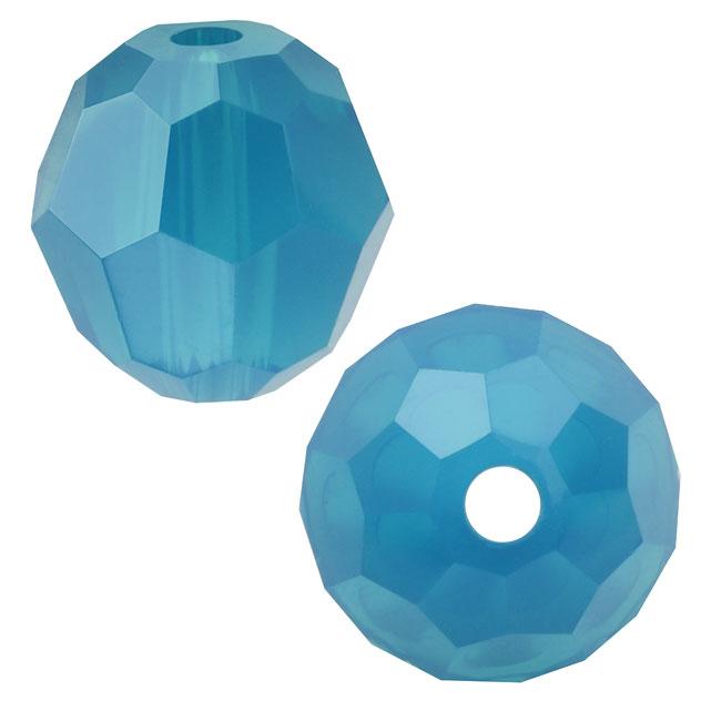 Swarovski Crystal, #5000 Round Beads 4mm, 12 Pieces, Caribbean Blue Opal