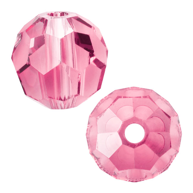 Swarovski Crystal, #5000 Round Beads 4mm, 12 Pieces, Light Rose