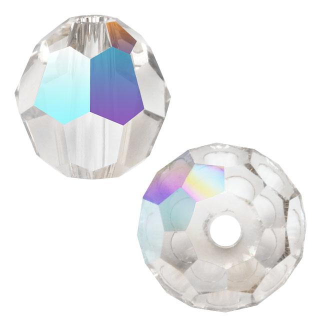 Swarovski Crystal, #5000 Round Beads 6mm, 10 Pieces, Crystal AB